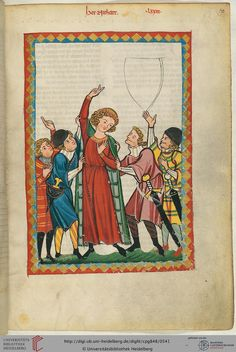"""Neidhart oder Nithart, der sich selbst """"der von Riuwental"""" nannte, ist gegen 1200 geboren und stammte vermutlich aus Niederbayern. Die biographische Informationen über ihn stammen hauptsächlich aus seinen Liedern. Die literarische Gattung des ländlichen Tanzliedes geht auf ihn zurück."""