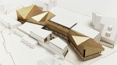 London based architectural practice with a reputation for bold ideas, strong forms and carefully crafted buildings. London Architecture, Roof Architecture, School Architecture, Contemporary Architecture, Structural Model, Architecture Concept Diagram, Kindergarten Projects, Arch Model, Architecture Visualization