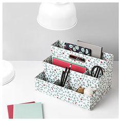 FJÄLLA Desk organizer - IKEA - not crazy about the design but love the 3 tiers Office Furniture Design, Home Office Decor, Cool Furniture, Office Chic, Small Storage, Craft Storage, Desk Organization Ikea, Office Items, Diy Desk