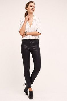Paige Hoxton High-Rise Skinny Jeans #anthropologie