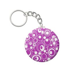 Shop for customizable Purple keychains on Zazzle. Buy a metal, acrylic, or wrist style keychain, or get different shapes like round or rectangle! Circle Key, Key Chains, Circles, Designers, Purses, Personalized Items, Hair, Stuff To Buy, Clothes