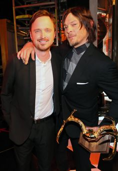 Aaron Paul And Norman Reedus Are Having An Epic Bromance: See The Pics - MTV