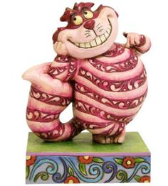 JIM SHORE DISNEY Figurine CHESHIRE CAT Alice in Wonderland Statue Figure