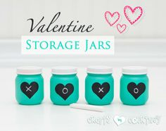 DIY Baby Food Jars Turned Valentine Storage Decor