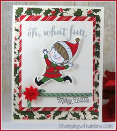 Stamping With Amore: Christmas Cuties Oh What Fun Christmas Card