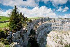 Creux-du-van-amphitheater  near Neuchatel Switzerland