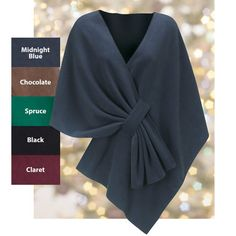 Fleece Shawl | Fleece Wraps for Women | The Paragon  Would like to figure out how to make this myself.
