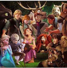 Disney family reunion!! So adorable!!
