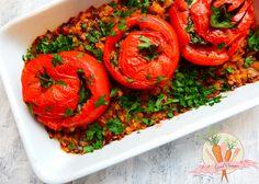 pomidory faszerowane szpinakiem i fetą zapiekane w soczewicy z warzywami_wm