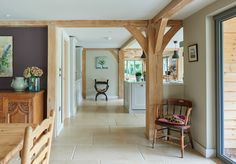 Since 1980 Border Oak have specialised in the design and construction of exceptional bespoke oak framed buildings across the UK and abroad Kitchen Extension Open Plan, Open Plan Kitchen Diner, English Cottage Kitchens, English Farmhouse, Farmhouse Kitchens, Cabin Design, House Design, Barn Conversion Interiors, Border Oak