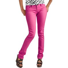 Red Rivet Juniors Colored Skinny Jean. They come in fuchsia, teal ...