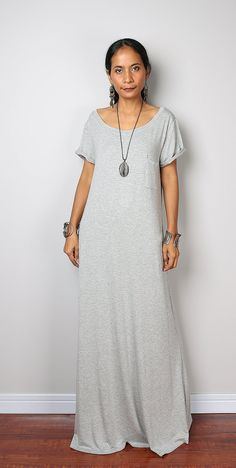 Light Grey Dress with cap sleeves by Nuichan