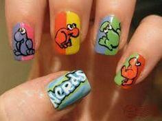 cute animal nails designs
