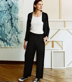 Uniqlo Hana Tajima Tencel Ankle Length Trousers (£30).