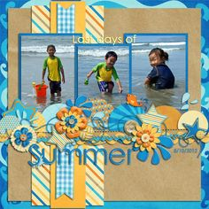 Fun summer colors and use of scraps