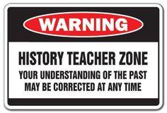 HISTORY TEACHER Zone school book gift middle high school funny gag books retire