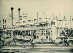 Steamboat at New Orleans, La, 1900