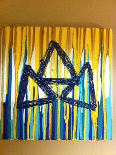 Tri Delta painting. Perfect for a dorm or sorority house! NEED to make for Kappa! <3