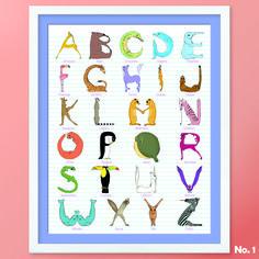 Alphabet No. 1: from Antelope to Zebra