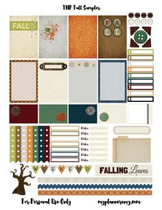 Free Printable Fall Sampler for the MAMBI Happy Planner