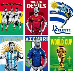 """piqueque: """" ESPN World Cup Posters. """" Truly, the Beautiful Game."""