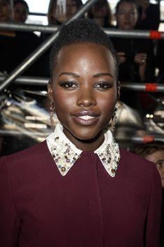 Lupita Nyong'o Fauxhawk - Short Hairstyles Lookbook - StyleBistro