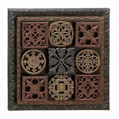 Benzara 68405 24 in. H x 24 in. W Metal Wall Decor [Kitchen] by Benzara. $50.38. The floral designs in this metal wall art have two square frames in black and copper color. This. The uniqueness of this metal wall art is that it features four different types of metals in four. The square floral metal wall decor is 24 on each side.. This vintage metal wall decor is a square shaped design inside which there are 9 smaller squares. Great Gift Idea.. There are several ways to decora...