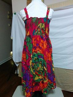 BUY IT NOW! ALWAYS FREE SHIPPING! Strappy Sundress Removable Stretch Straps Cato Size S Empire Waist Tropical  | eBay