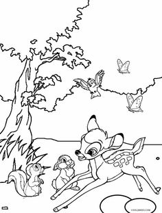 83 Unique Bambi Coloring Pages 38 In For Kids Online
