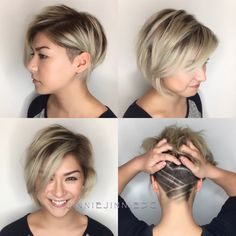 Today we have the most stylish 86 Cute Short Pixie Haircuts. We claim that you have never seen such elegant and eye-catching short hairstyles before. Pixie haircut, of course, offers a lot of options for the hair of the ladies'… Continue Reading → Short Hairstyles Fine, Haircuts For Fine Hair, Short Pixie Haircuts, Undercut Hairstyles, Short Hair Cuts, Undercut Bob, Short Hair With Undercut, Short Hair Plus Size, Bob Haircuts