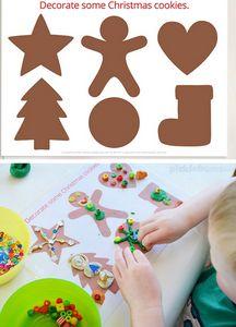 Kleikaart - versier de kerstkoekjes
