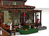 Here are my pictures or renderings from my Lego Sea Front Village projects with the Boat Repair Shop, Old Fishing Store, Boat House Diner and more. by RobenAnne