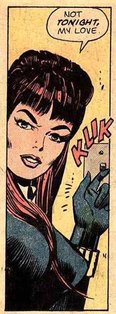 """Black Widow"" Not Tonight, from Daredevil # 121."