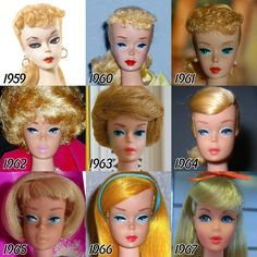 56 Years The Fascinating Evolution Of Barbie's Face Over The Past