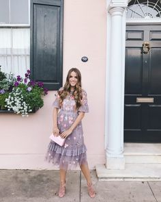 Daily Look (Night out) Need & Thread Dress (blush version here, maxi version here), Alaia Heels (similar here), Rocio Clutch Modest Clothing, Modest Dresses, Modest Outfits, Modest Fashion, Pretty Dresses, Dress Outfits, Girl Fashion, Dress Up, Cute Outfits