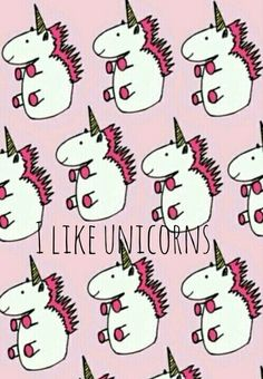 I like unicorns wallpaper I designed myself haha