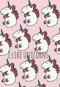 I like unicorns wallpaper I designed myself haha