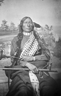 Blackfoot Chief Long Feather 1876 but no location or native name
