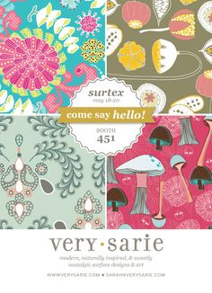 Sarah Ehlinger | Surtex 2014 flyer | Make it in Design