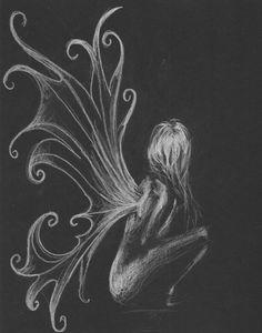 Fairy art nude sketch by Boo by artbyboo on Etsy Nice Charcoal erase! 1 Tattoo, Tatoo Art, Pixie Tattoo, Elfen Fantasy, Fantasy Art, Tatoo Angel, Fairy Drawings, Fairy Wings Drawing, Illustration