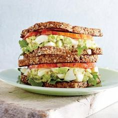 Avocado-Egg Salad Sandwiches with Pickled Celery | MyRecipes.com #myplate #protein veggies #wholegrain