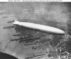 USS Shenandoah (ZR-1) flying over New York city, circa 1923.
