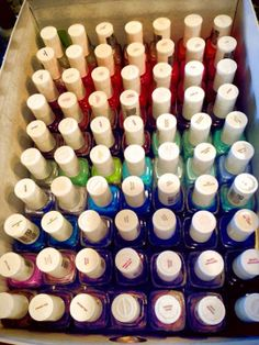 a collection of essie nail polish to be jealous of. very jealous. i'm definitely jealous. lol!