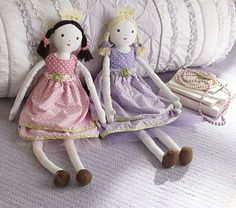 Perfect for Mirabai and Fiona!  Princess and the Pea Dolls #PotteryBarnKids