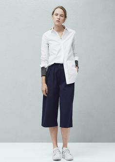 Chest-pocket cotton shirt -  Women | MANGO USA