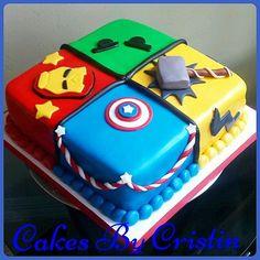 Cake decorating in 2019 Avengers Birthday Cakes, Superhero Birthday Cake, Baby Boy Birthday, Boy Birthday Parties, 5th Birthday, Birthday Ideas, Marvel Baby Shower, Superhero Baby Shower, Marvel Cake