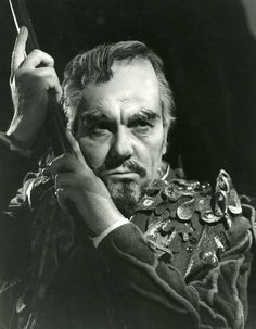 """Photo: Ralph Richardson as Prospero in a 1952 production of """"The Tempest."""""""
