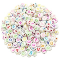 100 piece/Lot Square/Round Alphabet Digit/Letter Acrylic Cube for Jewelry DIY