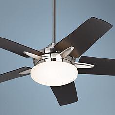 "52"" Casa Endeavor® Brushed Nickel Espresso Ceiling Fan"