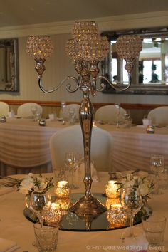 Crystal Candelabra. - First Class Weddings & Events Brisbane Wedding Decorators.